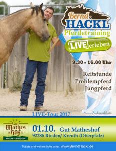 Bernd Hackl - Pferdetraining LIVE erleben @ Ausbildungshalle